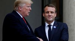 Third way?: US President Donald Trump with French President Emmanuel Macron. Photo: Reuters