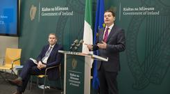 Political costs: Minister for the Gaeltacht Seán Kyne (left) and Paschal Donohoe