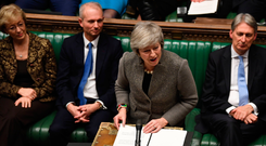 Hapless: British PM Theresa May has battled furiously amid splits in her own part. Photo: PA