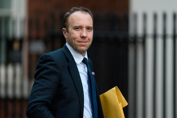 Reality check: UK health secretary Matt Hancock revealed how is department is spending a large amount of money on fridges. Photo: Leon Neal/Getty Images