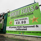 Backstop impasse: Brexit Fuels at Jonesborough in Co Armagh, close to the Border. Photo: PA