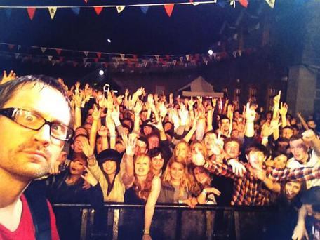 A photo taken on stage at Limerick, tweeted with the caption