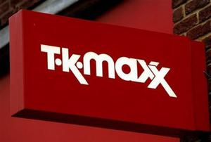 A shop sign at a branch of TK Maxx, the discount clothing shop in  London, Friday March 30, 2007. Hackers stole the bank card details of millions of British and American shoppers in what is thought to be the world's biggest ever credit card heist.The crooks extracted at least 45.7 million credit and debit card numbers from the US and UK-based computer systems of the American retailer that owns bargain chain TK Maxx. (AP Photo/Kirsty Wigglesworth)...F