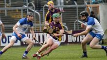 Conor McDonald in possession for Wexford against Waterford in the National League game at Wexford Park last Sunday