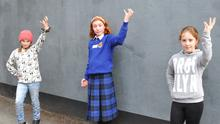 Katie Bogan, Eimear McQuillan O'Hagan and Aisha Ryder at the MAD Youth Theatre open day. Photo: Aidan Dullaghan/Newspics
