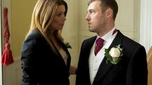 Rob hopes Carla will keep his secret on his wedding day in Coronation Street