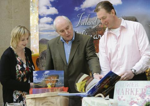 Martina Morrow, Taste of Louth, Michael McCabe, LCC, and Dermot Seberry at the launch of Dermot's book 'Ireland: A Culinary Journey in the North East'.