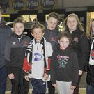 Conor, Andrew, Cailín Begley, Hackballscross, with Dylan and Megan McKeown, Ardee Road along with Luke and Aoife O'Connell, Brid-a-Chrinn, who attended the Dundalk v Bray Wanderers match at Oriel Park