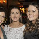 Claire McKenna, Haggardstown, Roisin Smith, Kingswood and Janice Maguire, Blackrock at the New Year's Eve party in Courtneys
