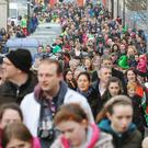 Crowds enjoying last year's Leprechaun Hunt in Carlingford