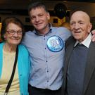 Tony Broadhurst (centre) his mother Bernadette and dad Leslie at Tony's 50th birthday party held in the Lilywhite Lounge