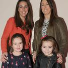 Jenny and Ava King, with Grainne and Holly Ryan at the Funky Feet presentation night in The Lisdoo