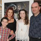 Carol, Jim, Thomas and Elizabeth Wallace at Carol's 'A Nation Rises' Art Exhibition in Dundalk Museum
