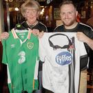 Fidelma McKenna and Gerard Murphy at a Carlsberg promotion night held in The Windsor Bar