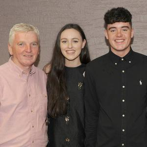 Pascal, Kathryn, Andrew, Patricia and Mark Keenan, Castlebellingham at Andrew's 21st birthday party in Dundalk Rugby Club