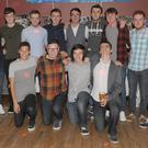 Sean Keogh (centre, back row), celebrating his 21st birthday party with a group of friends in The Lisdoo
