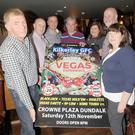 Richie Mulholland, Paul Cumiskey, Martin Quigley, Sean McEneaney, Cora Kampes, Declan Curran and Mary McGeown at the official launch in Callans Bar of the Kilkerley Emmets GFC Vegas Experience night which takes place in The Crowne Plaza on Saturday 12th November