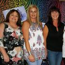 Marian O'Hanlon, Martina Dempsey, Anne-Marie McParland, Irene Malone, Stephanie Malone, Nuala Barry at the '80s Disco held in Cooley