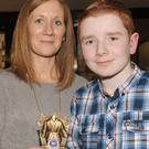 Jennifer and Dean Litchfield, Mount Avenue, at the Dundalk Karate Club awards night in Oriel Park
