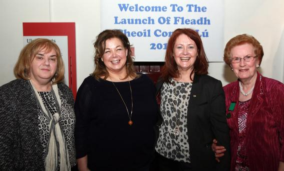 Joan Martin Chief Executive, Louth County Council, Kay Webster, Reachtaire in the Oriel Centre, Attracta Brady, Tullamore Chairperson of Leinster Council of Comhaltas, and Ann Finnegan, national President of Comhaltas