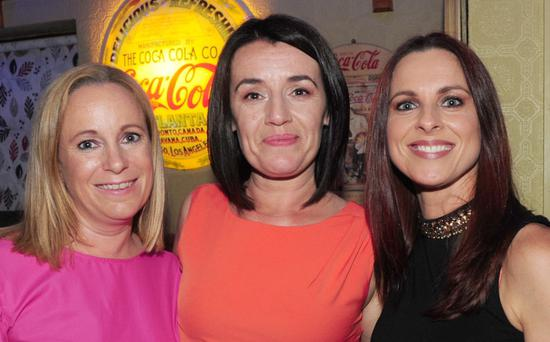 Michelle McEnteggart, Sabrina Mulholland and Melanie Hearty at Sabrina's 40th birthday celebrations in The Castle Bar.