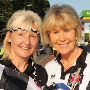 Denise and Michelle Woods at the big match