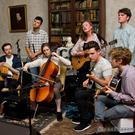 Musicians performing in The Drawing Room at last year's Arcadian Field Festival in Bellurgan Park