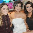 Sarah Casey (left), Blackrock, Daire Hynes, Park Drive, Kerri Hynes, Park Drive, Chandell Cooney, Blackrock and Jennie McBride, Dublin Road at Kerri's 30th birthday party in Russell's Saloon on Park Street