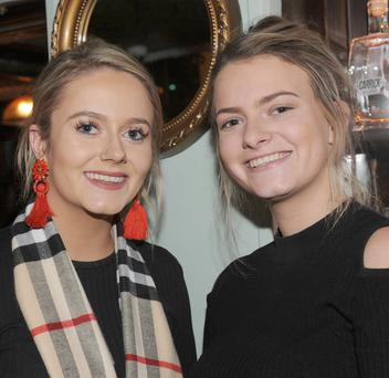 Shannon McGuinness, Greyacre Road and Ciara Twyford, Cedarwood Park at the New Year's Eve celebration night in The Imperial Hotel