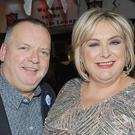 John and Kathleen Callan, Belfry Drive at John's 50th birthday party in Oriel Park.