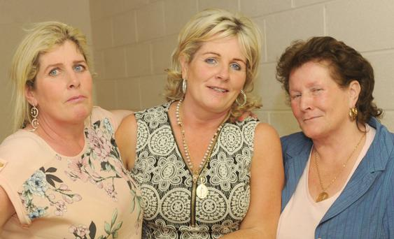 Helen Stokes, Margaret McDonagh and Kathleen Joyce at Margaret's 50th birthday party in Dowdallshill GFC community centre