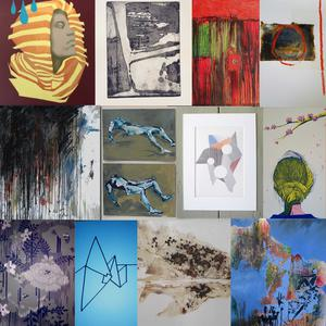 Work by the artists who are exhibiting in the show in the Long Walk Shopping Centre