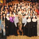 The cast members of 'Sister Act' at St. Vincent's Secondary School