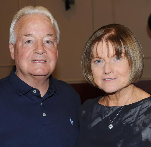 Michael and Sally Duffy, Saltown at Michael's 70th birthday party in Clan na Gael GFC community centre