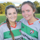 Michaela Murphy and Naomi Reid at the IRFU Tag Rugby Tournament at Dundalk Rugby Club