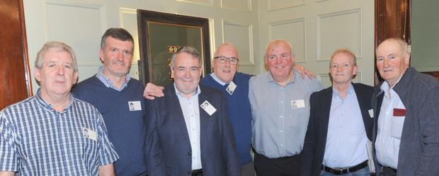 The organising committee of the CBS class of 1968 reunion in The Windsor Bar: Anthony Hoey (left), Michael Lambert, Joe Hamill, Donal Duffy, Seamus Brennan, Gerry Lambe and Brian Murphy