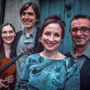 New Credit Union cultural ambassador, fiddler Zoe Conway (left) with fellow Allt musicians