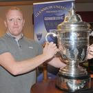 Richie Yore with the FAI Cup trophy.