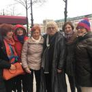 Members of Dundalk Setanta Choir who met composer Karl Jenkins, 4th left, while out and about in Berlin. The choir had performed his piece The Armed Man: A Mass for Peace during a visit to the city.