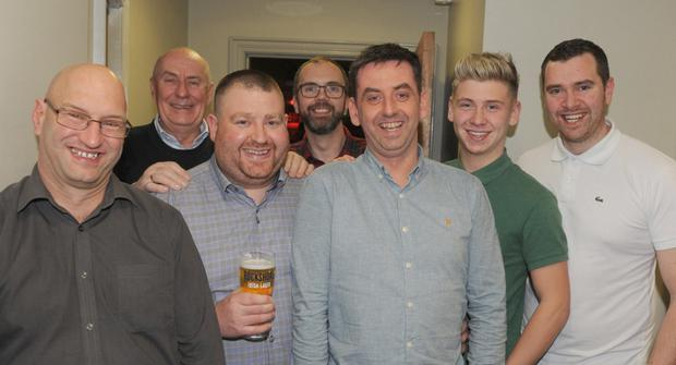Mark (3rd from right with his workmates in Optimum Vision: Shane Huckfield, Gerry Conachy, Gerard Galbraith, Lee Costello, Alan Carr and Darren McCrave
