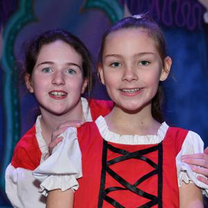 Cailín Begley and Rebecca Lawrence who take part in the Dundalk Musical Society's production of 'Snow White and the Seven Dwarfs'