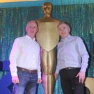 Vincent Litchfield and Kevin McEnteggart at the Oskars launch night in Kilkerley Community Centre