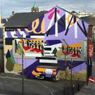 Omin's mural in Derry