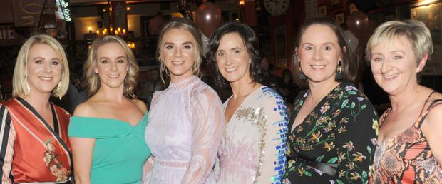 Emma Reilly, Sarah Connolly, Sinead Connolly, Catherine White, Michelle Connolly and Carmel Connolly at Sinead's 30th birthday party in The Clermont Arms, Blackrock