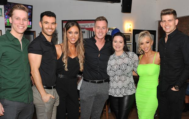 Darren Casey with Fergus Fitzpatrick, Peter Wilson, Louise O'Sullivan, Orla Griffin, Niamh O'Sullivan and Bobby Hodgers at Darren's 30th Birthday Party held in the Lilywhite Lounge