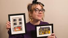 Dundalk artist Grainne Murphy with some of her works