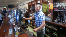 A Dundalk Gaels man pulling a pint in the Clans, Ian Culligan before the All Ireland finals