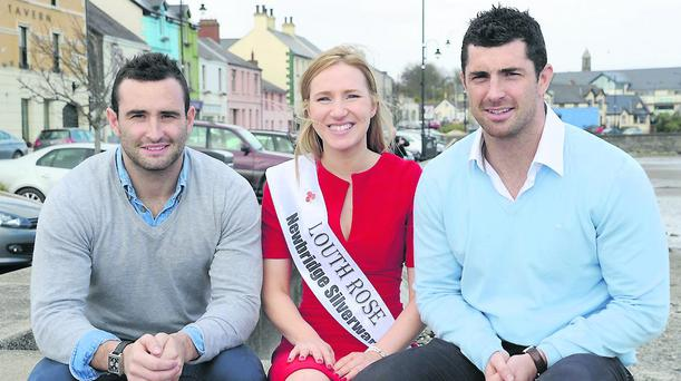 Louth Rose Patrica Marmion from Cooley with the Kearney brothers, Dave and Rob.