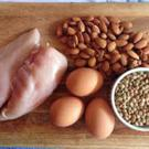 A healthy diet should include adequate protein, for example from chicken, nuts and eggs