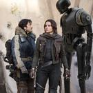 Pictured in Rogue One: A Star Wars Story: Cassian Andor (Diego Luna), Jyn Erso (Felicity Jones) and K-2SO (Alan Tudyk)